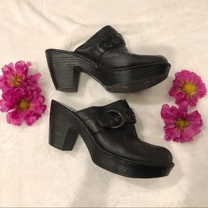 BORN by BOC | Heeled Clogs Buckle Braid Sz 10